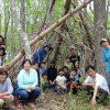 子ども春の冒険キャンプ~2日(探検と秘密基地)
